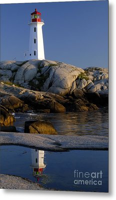 Peggy's Cove Lighthouse Metal Print by Norman Pogson