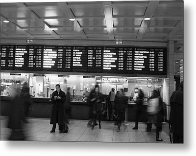 Metal Print featuring the photograph Penn Station by Steven Macanka