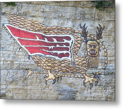 Metal Print featuring the photograph Piasa Bird by Kelly Awad