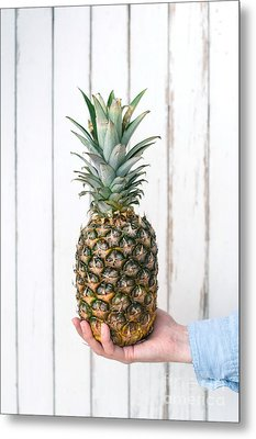 Pineapple Metal Print by Viktor Pravdica