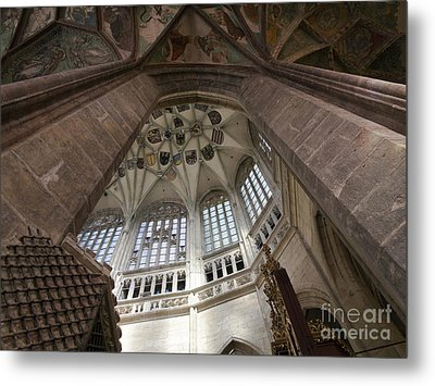 pointed vault of Saint Barbara church Metal Print