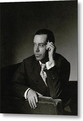 Portrait Of Cole Porter Metal Print
