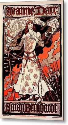 Poster For Le Théâtre De La Renaissance Metal Print by Liszt Collection