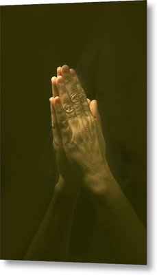 Praying Hands Metal Print by Bob Pardue