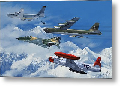 Refuel Over Alaska Metal Print by Dale Jackson
