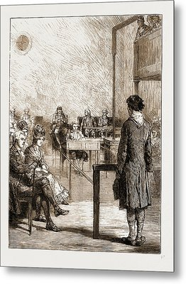 Reminiscences Of Old Bow Street Police Court Metal Print by Litz Collection