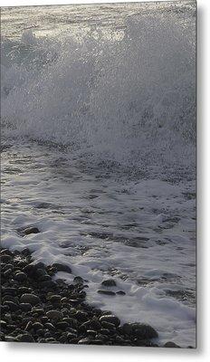 Rushing November Waves Metal Print by Tom Trimbath