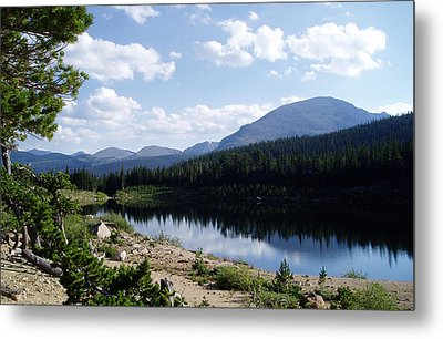 Sandbeach Lake Metal Print