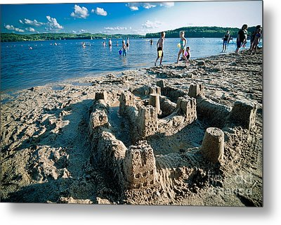 Sandcastle On The Beach Metal Print by Amy Cicconi