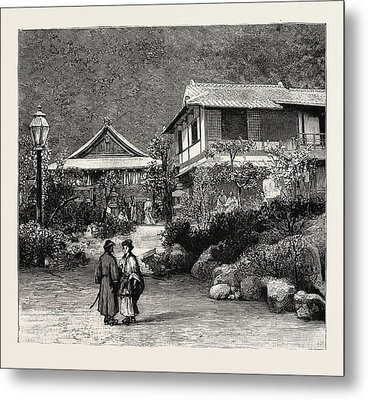 Scenes In The Towns And Districts Recently Devastated Metal Print by Japanese School