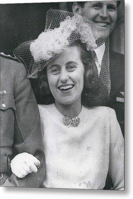 Senator Robert Kennedy's Sister Kathleen Metal Print