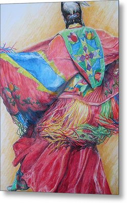 Shawl Dancer Metal Print by Sharon Sorrels