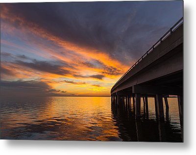 Metal Print featuring the photograph Soundside Sunset by Gregg Southard
