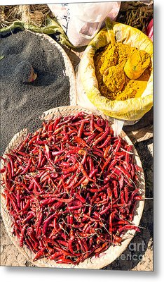 Spices At Local Market - Myanmar Metal Print
