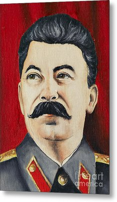 Stalin Metal Print by Michal Boubin
