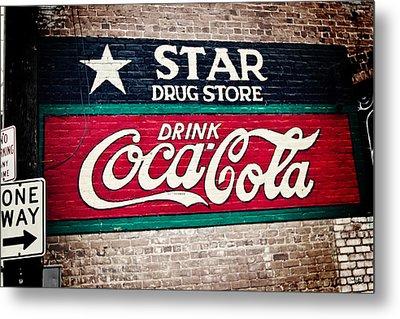 Star Drug Store Wall Sign Metal Print by Scott Pellegrin