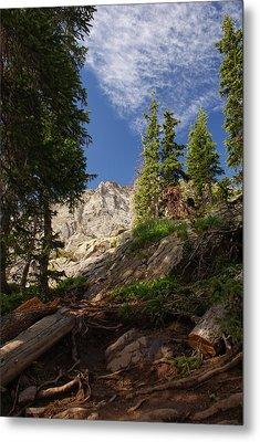 Steep Mountain Hike Metal Print by Michael J Bauer