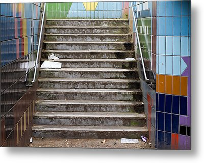 Subway Stairs Metal Print by Fizzy Image