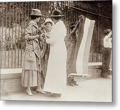 Metal Print featuring the photograph Suffragettes, 1917 by Granger