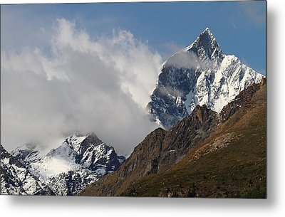 Swiss Alps Shrouded In Clouds Metal Print by Jetson Nguyen