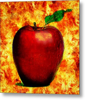 Metal Print featuring the digital art The Apple Of Eris by Persephone Artworks