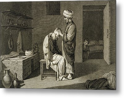 The Barber Metal Print by Nicolas Jacques Conte