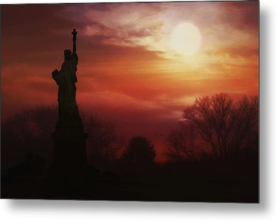 The Lady In The Harbor Metal Print by Tom York Images