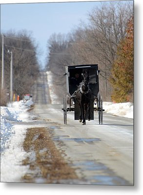 Metal Print featuring the photograph To Market by Linda Mishler