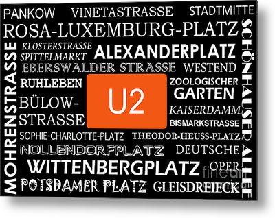 U Bahn Metro U2 Berlin Metal Print by Art Photography