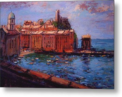 Vernazza From The Train Metal Print by R W Goetting