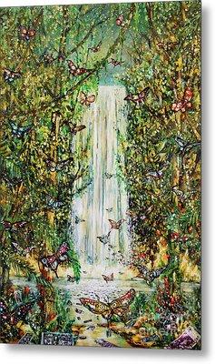Waterfall Of Prosperity II Metal Print