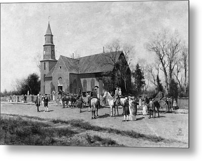 Williamsburg Church Metal Print by Granger
