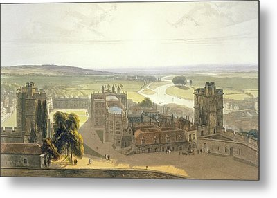Windsor Castle, From A Compilation Metal Print by William Daniell