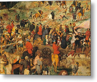 Ascent To Calvary, By Pieter Bruegel Metal Print by Pieter the Elder Bruegel