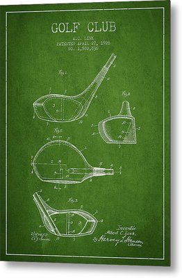 Golf Club Patent Drawing From 1926 Metal Print by Aged Pixel