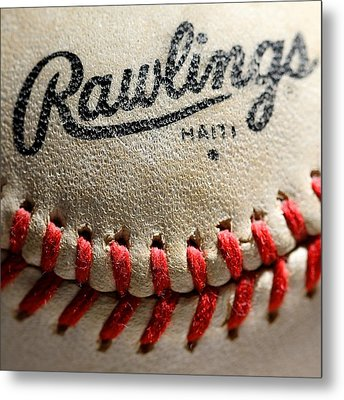 Baseball Metal Print by Michael Blesius