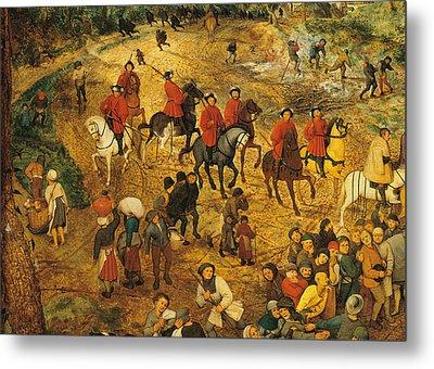 Ascent To Calvary, By Pieter Bruegel Metal Print by Pieter the Elder Bruegel