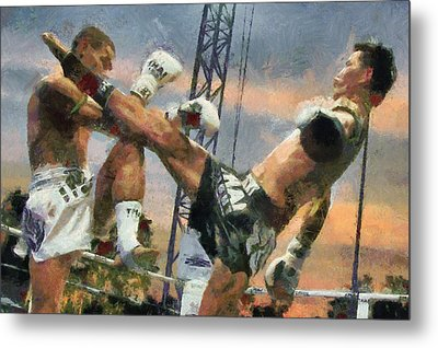 Muay Thai Arts Of Fighting Metal Print by Rames Ratyantarakor