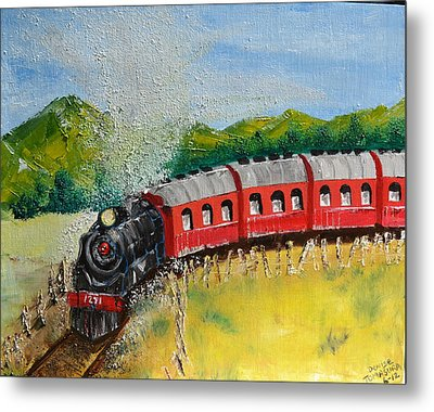 1271 Steam Engine Metal Print by Denise Tomasura