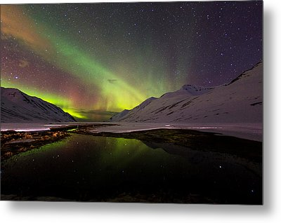 Metal Print featuring the photograph Aurora Borealis by Frodi Brinks
