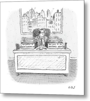 New Yorker December 6th, 2004 Metal Print by Roz Chast