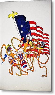 1776 Happy People Metal Print by Glenn Calloway