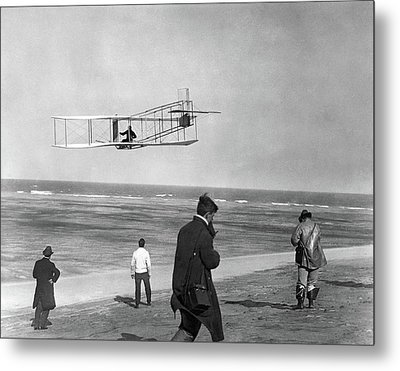 1911 One Of The Wright Brothers Flying Metal Print