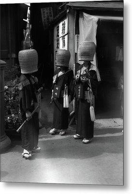 1930s Japanese Mendicant Holy Men Metal Print