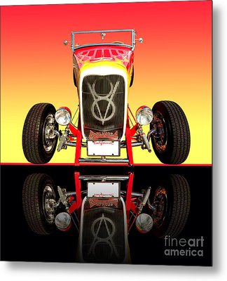 1932 Front Ford V8 Hotrod Metal Print by Jim Carrell