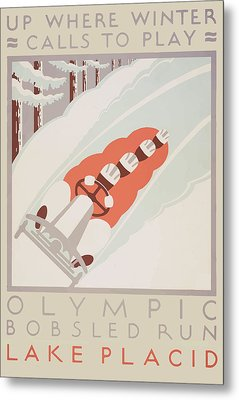 Metal Print featuring the painting 1932 Winter Olympics by American Classic Art
