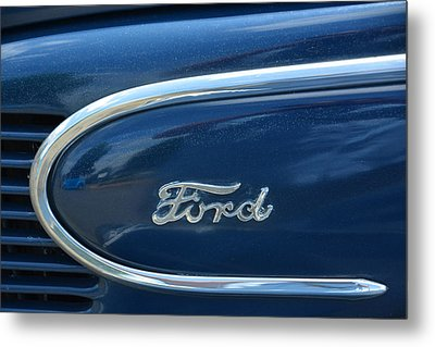 1939 Ford Emblem Metal Print by Mike Martin