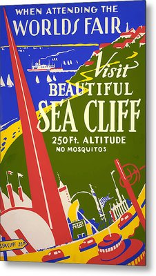 Metal Print featuring the painting 1939 Sea Cliff - Worlds Fair Celebration by American Classic Art