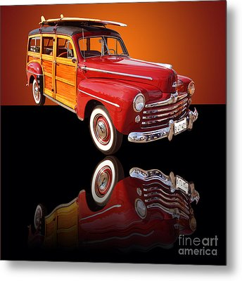 1947 Ford Woody Metal Print by Jim Carrell