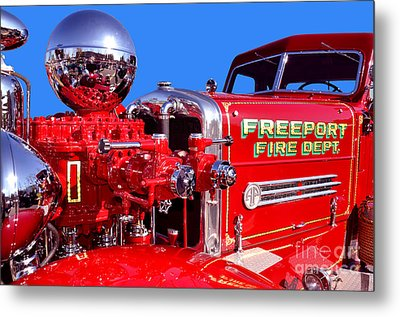 1949 Ahrens Fox Piston Pumper Fire Truck Metal Print